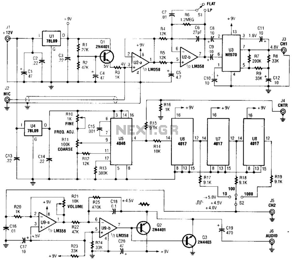 Precision Audio-Frequency Generator Circuit - schematic