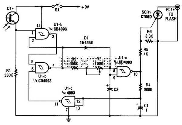 Time Delay Flash Trigger Circuit Circuit