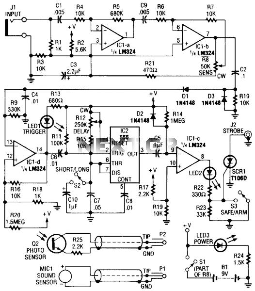 Photo Strobe Circuit - schematic