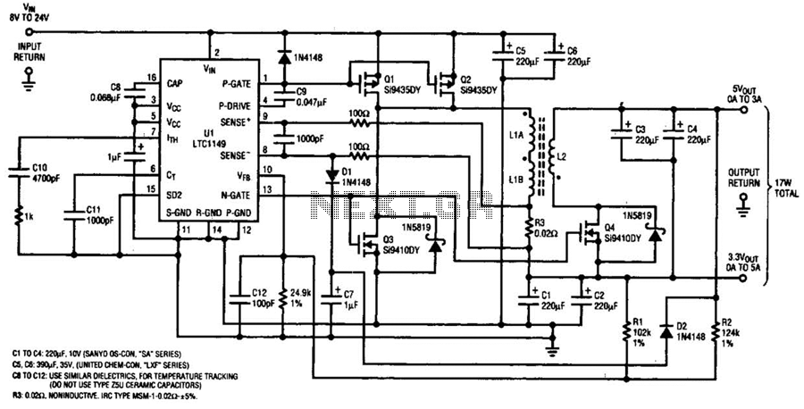 Single Ltc Power Supply Circuit - schematic