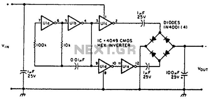 Inverting Power Supply Circuit - schematic