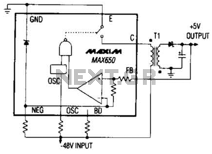 Switching Regulator Converter Circuit - schematic