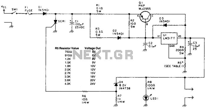 Laptop Computer Power Supply Circuit - schematic