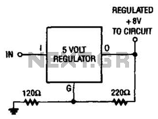 8V From 5V Regulator Circuit