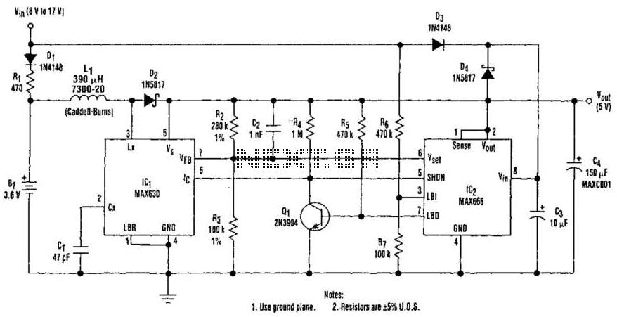 Ups 5Volt Circuit - schematic