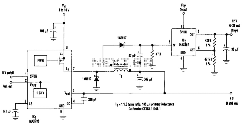Add 12V Output To 5V Buck Regulator Circuit