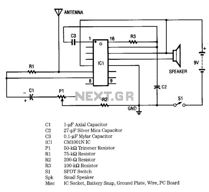 Proximity Alarm I Circuit - schematic