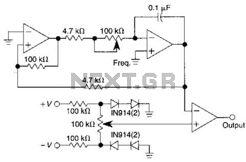 Pulse Generator With Variable Duty Cycle Circuit - schematic