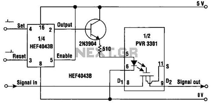 Solid State Latching Relay Circuit - schematic