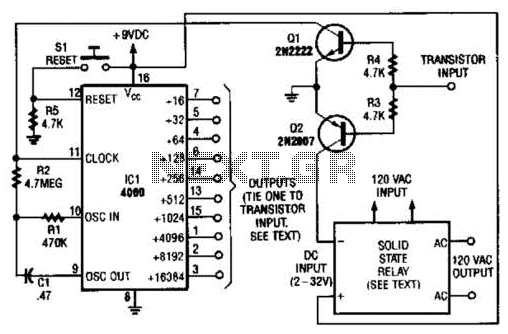 Time Delay Relay Circuit - schematic