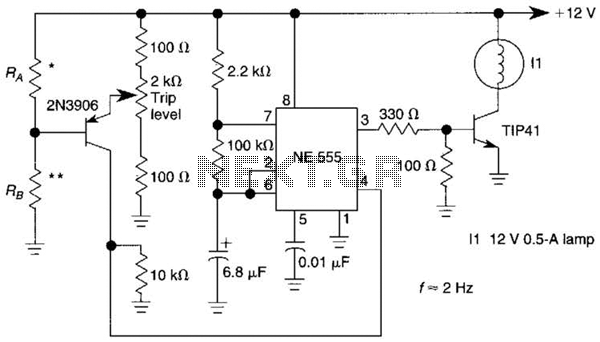 Sensor-Activated Relay Pulser Circuit - schematic