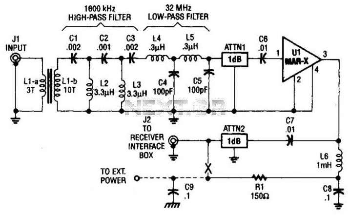 Hf Preamplifier Circuit - schematic