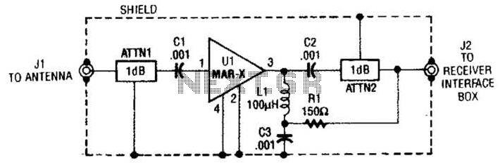 Vhf-Uhf Preamp Circuit - schematic