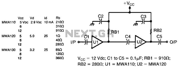 Wideband Preamp Circuit - schematic
