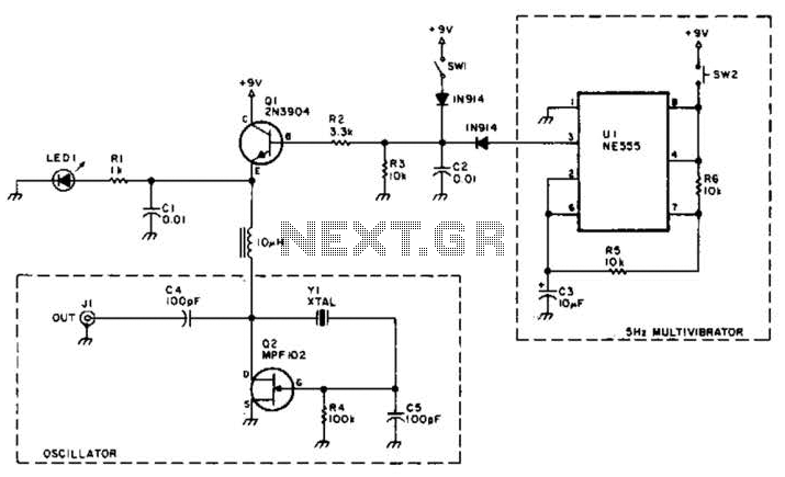 Quick view of A Shortwave Pulsed-Marker Oscillator Circuit