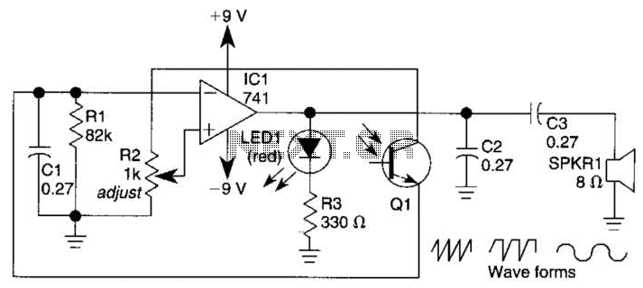 Simple Sine-Wave Generator Circuit - schematic