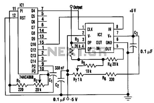 adjustable sine wave generator circuit
