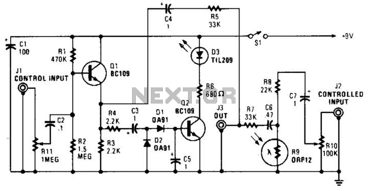 Automatic Fader Circuit - schematic