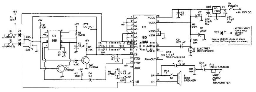 Voice Identifier Circuit - schematic