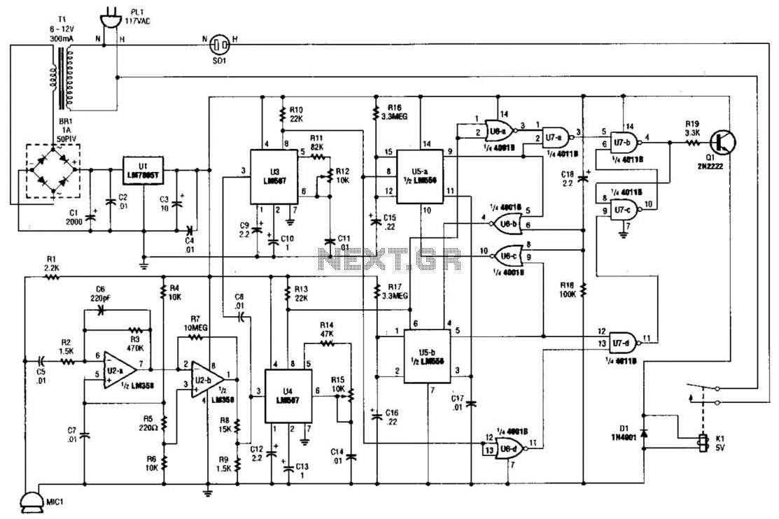 Results Page 2 About Sound Lm567 Searching Circuits At 741 Amplifier Circuit Whistle Switch