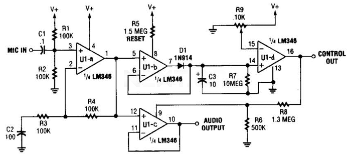 Voice Activated Switch And Amplifier Circuit