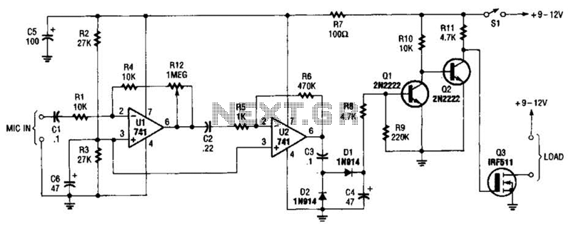 audio controlled switch circuit
