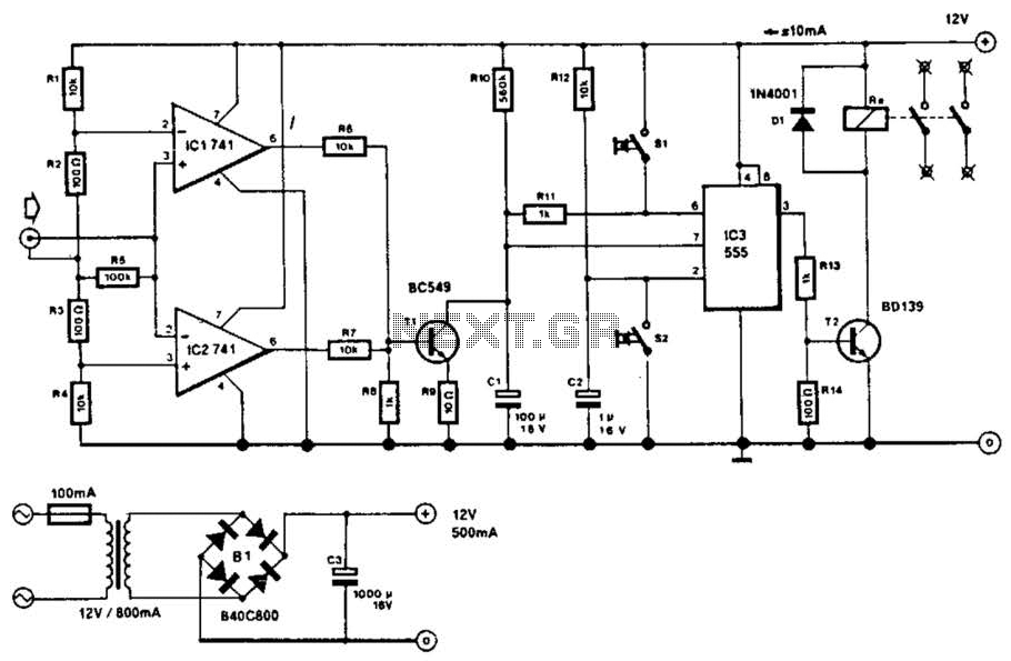 Audio Controlled Mains Switch Circuit