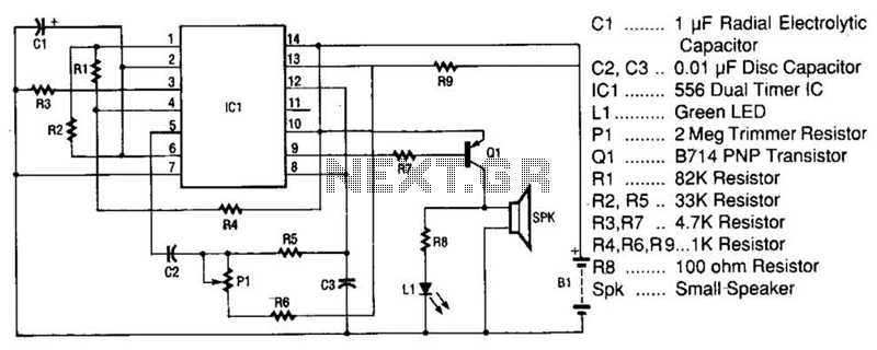 Space Age Sound Machine Circuit - schematic