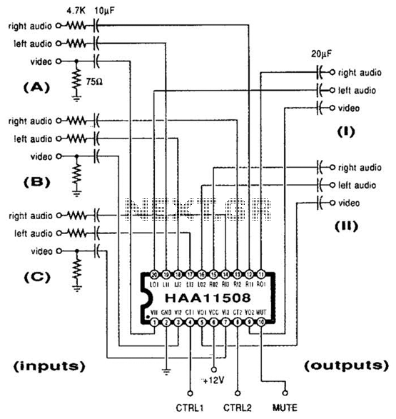 Video/Audio Switcher Circuit
