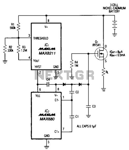 Load Disconnect Switch Circuit - schematic