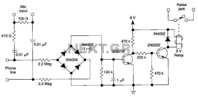 Telephone Call Recording Circuit Circuit - schematic