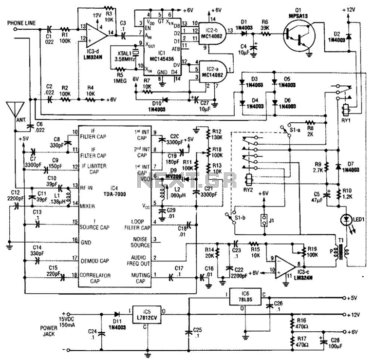 Music On Hold Circuit - schematic