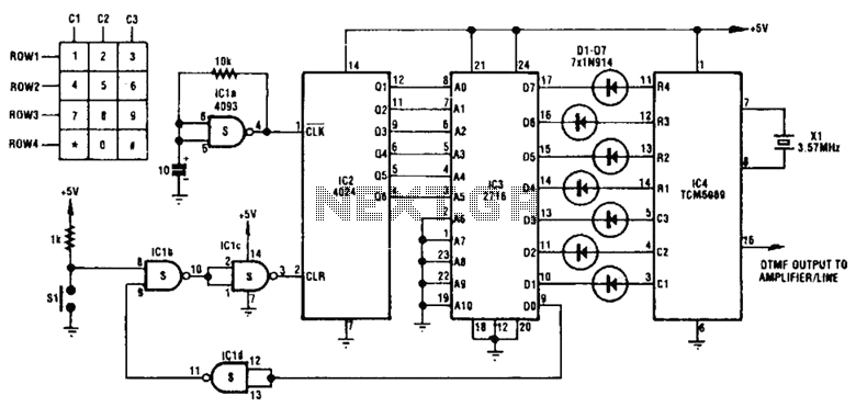 5V Dial Tone Circuit Circuit - schematic