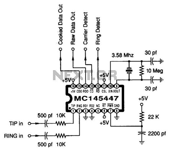 Alarm Dialer Circuit - schematic