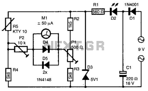 thermometer circuit page 2   meter counter circuits    next gr