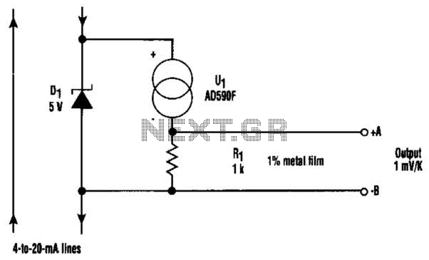 Thermometer For 5V Operation Circuit - schematic