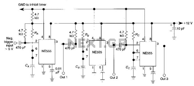 Tele Timer Circuit - schematic