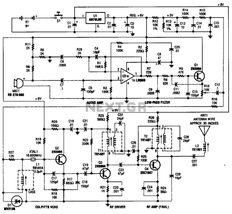 Tracking Transmitter Circuit - schematic