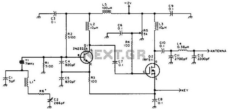 10M Dsb Transmitter Circuit - schematic