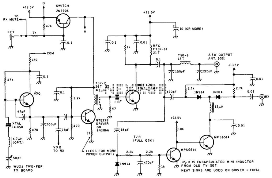 Fm Radio Transmitter Circuit - schematic
