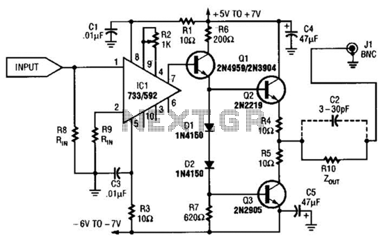 Ultrasonic Cleaner Circuit - schematic