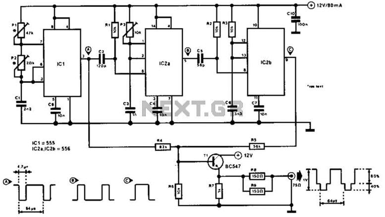 Video Master Circuit - schematic