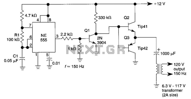 Simple Dc/Ac Inverter Circuit - schematic