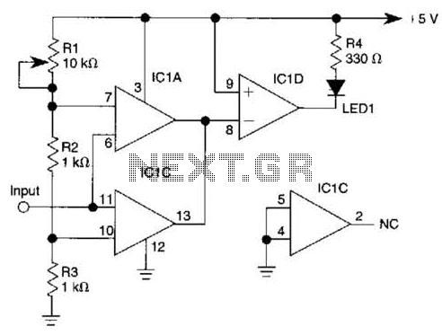 Window Comparator Circuit - schematic