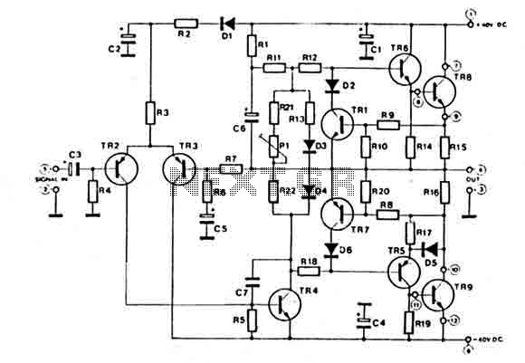 hi-fi audio amplifier 60w   audio amplifier circuits