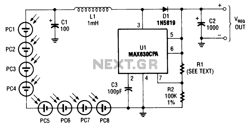 Photocell power supply (MAX630)