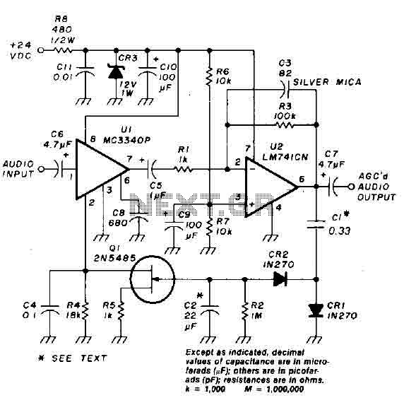 Auto gain control op-amp circuit - img1