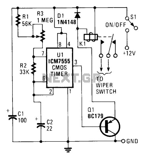 Wiper control circuit IIV - schematic