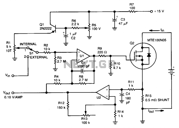 Fuel-cell battery tester - schematic