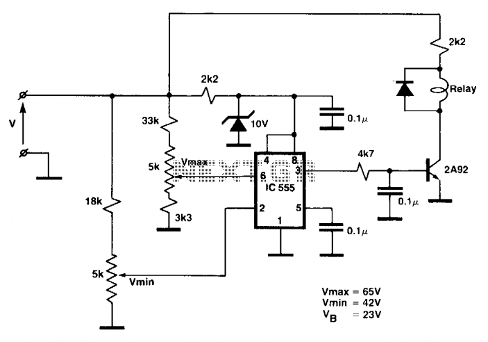 Voltage detector relay - schematic
